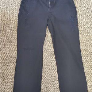 NWT NYDJ black crop jeans size 16 - boyfriend